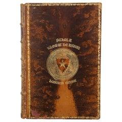 Antique 1886 Rob Roy on the Jordan Macgregor De Aston School Leather Book