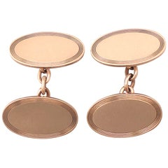 Antique 1899 Cufflinks in Rose Gold