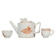 Antique Chinese Porcelain Chine De Commande Teapot & Tea Set Qianlong