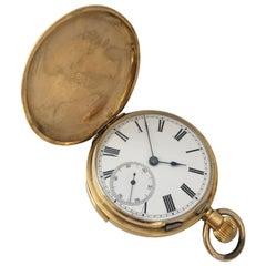 Antique 18 Karat Gold Full Hunter Quarter Repeating Pocket Watch