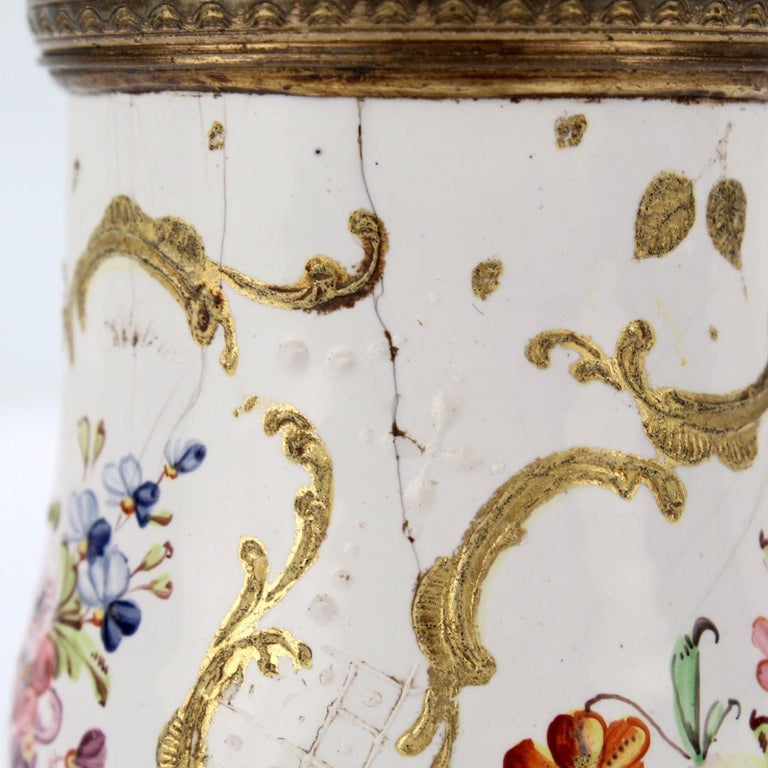 Antique 18th Century Bilston Battersea Enamel Muffineer or Sugar Shaker For Sale 5