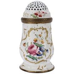 Antique 18th Century Bilston Battersea Enamel Muffineer or Sugar Shaker