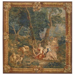 Antique 18th Century Brussels Mythological Tapestry, with Diana the Huntress