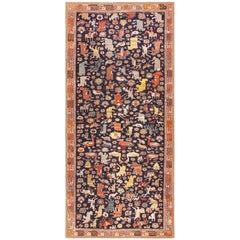 Antique 18th Century Caucasian Rug with Animal Design. Size: 4 ft 6 in x 9 ft
