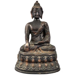 Antique 18th Century Chinese Bronze Shakyamuni Buddha Statue