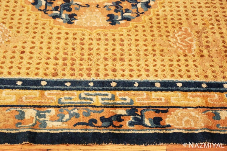 Antique 18th Century Chinese Ningxia Rug In Good Condition For Sale In New York, NY