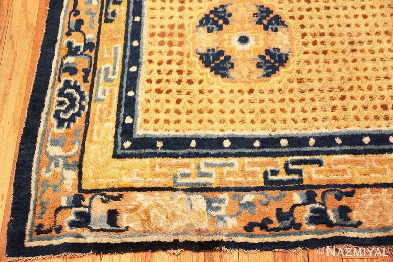 Late 18th Century Antique 18th Century Chinese Ningxia Rug For Sale