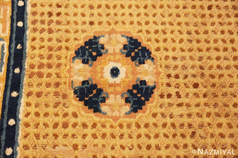 Wool Antique 18th Century Chinese Ningxia Rug For Sale