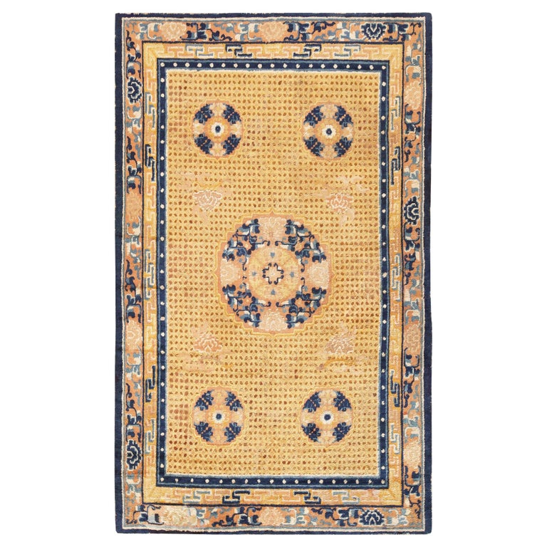 Antique 18th Century Chinese Ningxia Rug For Sale