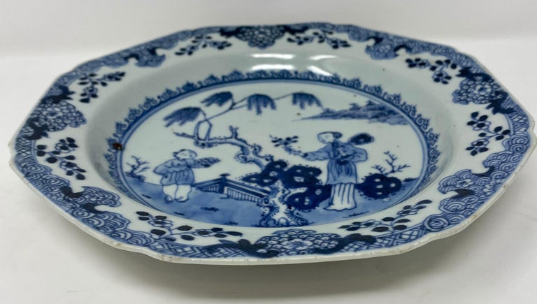18th Century and Earlier Antique 18th Century Chinese Plate For Sale