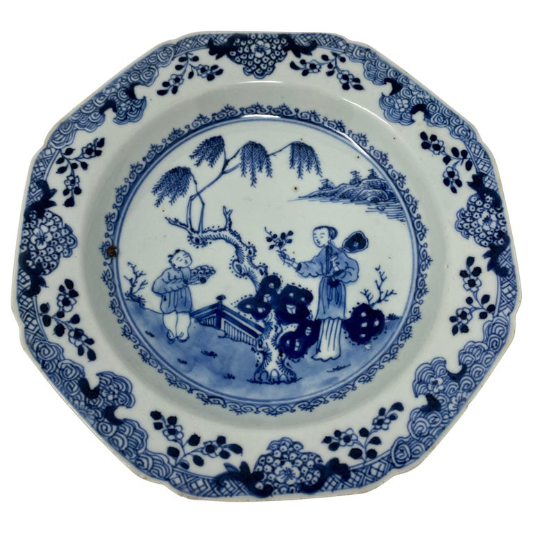 Antique 18th Century Chinese Plate For Sale
