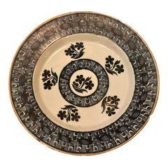 Antique 18th Century Dutch Delft Porcelain Plate, circa 1760-1790