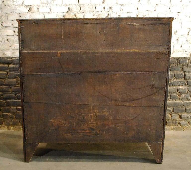 Antique 18th Century Dutch Oak Drop Front Bombe Secretary Desk Secretaire For Sale 5