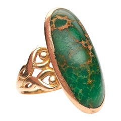 Antique, 18th Century, Early Georgian, Turquoise Ring