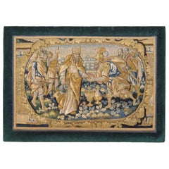 Antique 18th Century Flemish Historical Tapestry, with Alexander the Great