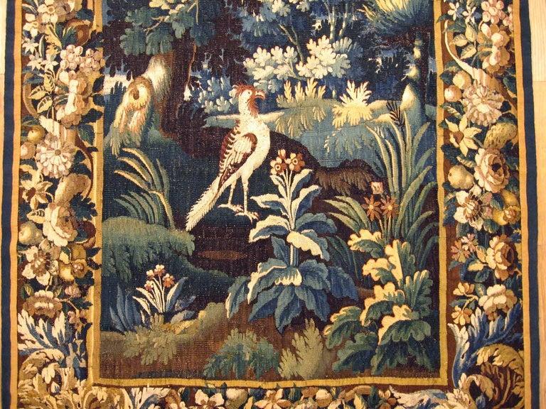 Belgian Antique 18th Century Flemish Verdure Tapestry 'from Ralph Lauren Window Display' For Sale