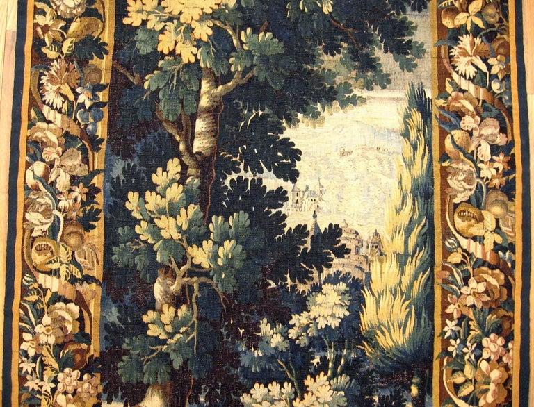 Hand-Woven Antique 18th Century Flemish Verdure Tapestry 'from Ralph Lauren Window Display' For Sale