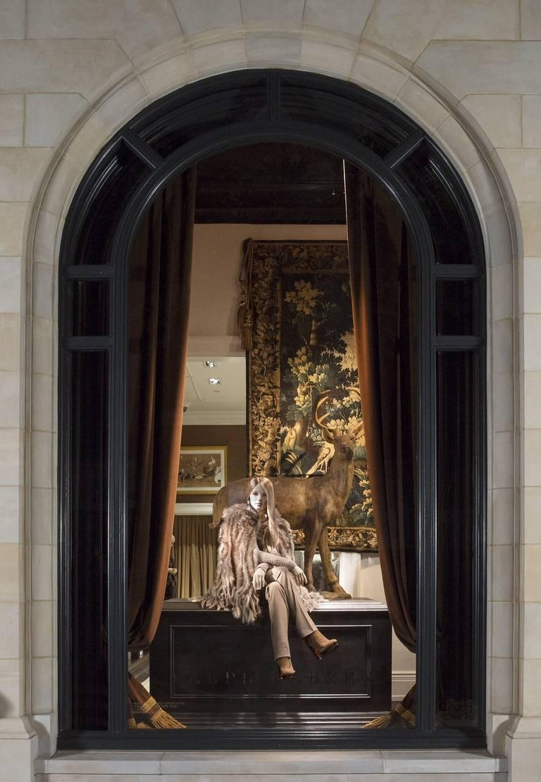 Silk Antique 18th Century Flemish Verdure Tapestry 'from Ralph Lauren Window Display' For Sale