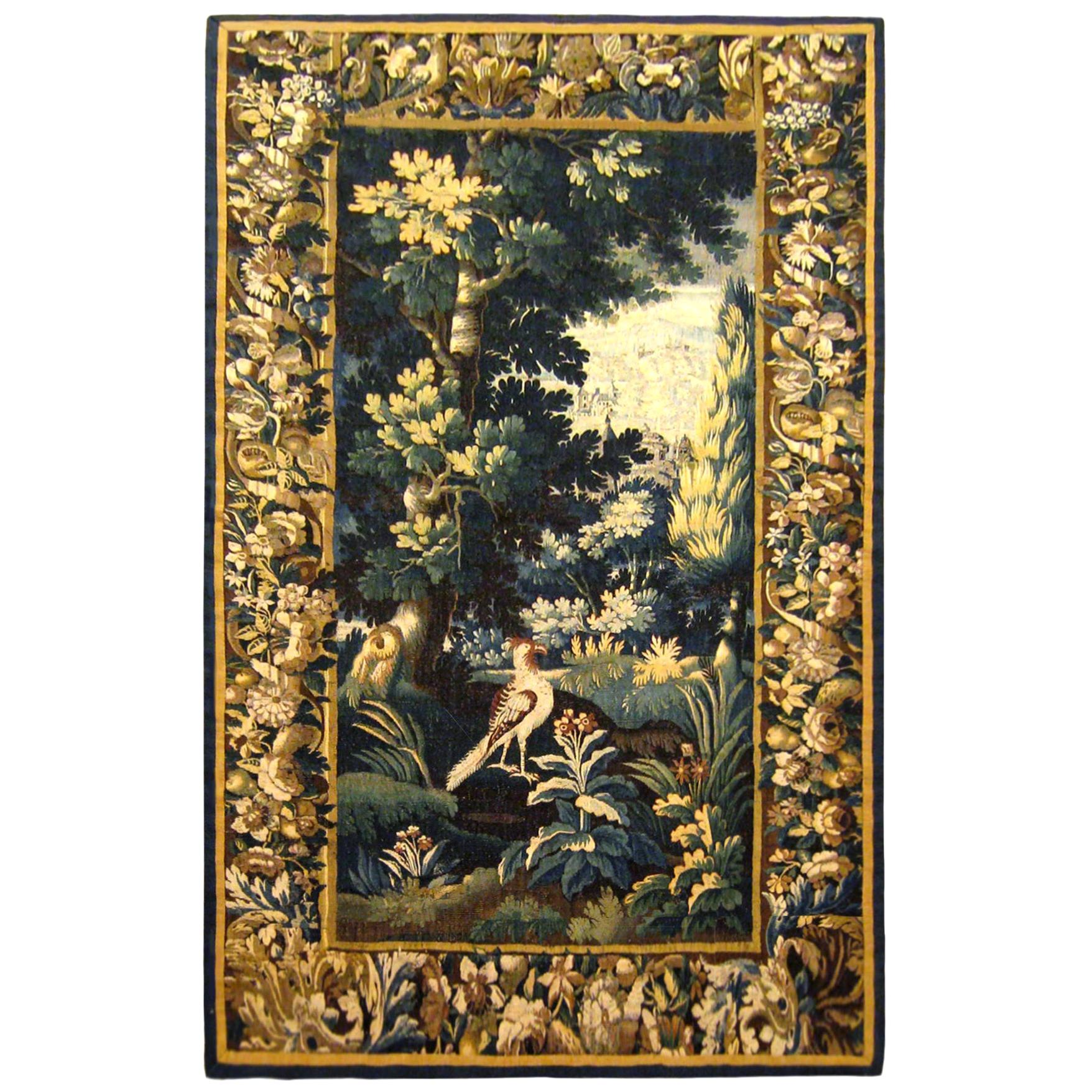 Antique 18th Century Flemish Verdure Tapestry 'from Ralph Lauren Window Display'