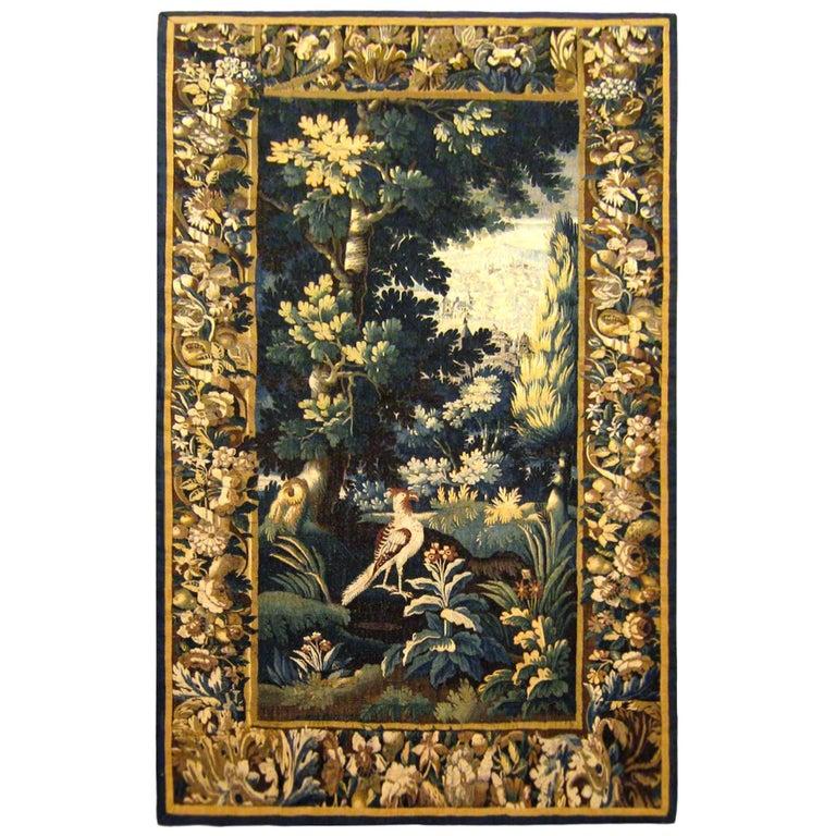 Antique 18th Century Flemish Verdure Tapestry 'from Ralph Lauren Window Display' For Sale