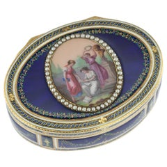 Antique 18th Century French 18-Karat Gold and Enamel Snuff Box, Paris circa 1784