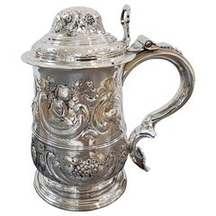 Antique 18th Century George III Sterling Silver Tankard London 1765, John Payne