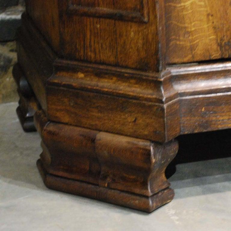 Antique 18th Century German Oak Two-Door Cabinet or Wardrobe For Sale 9