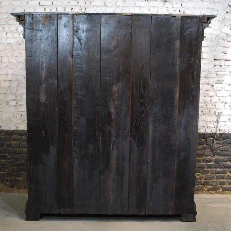 Antique 18th Century German Oak Two-Door Cabinet or Wardrobe For Sale 10