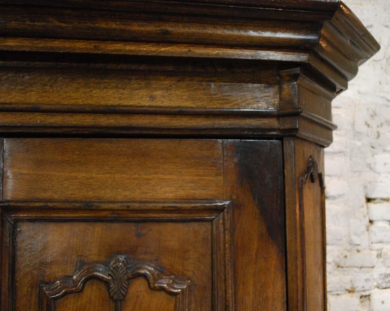 Antique 18th Century German Oak Two-Door Cabinet or Wardrobe For Sale 5