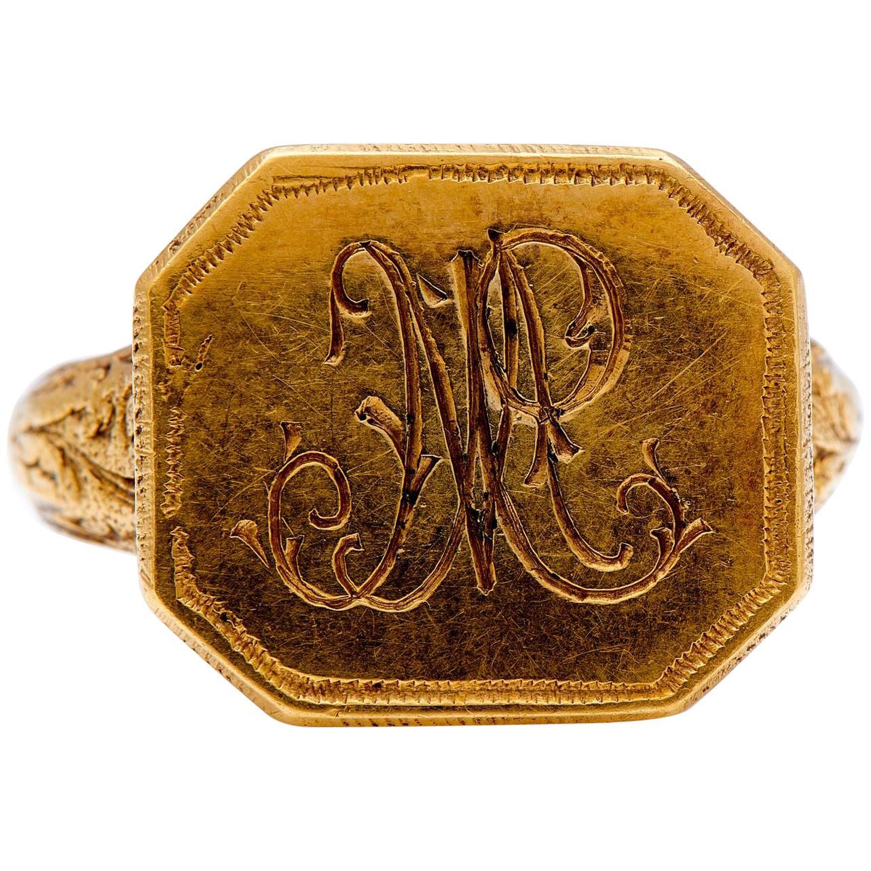 Antique, 18th Century, Gold Signet Ring