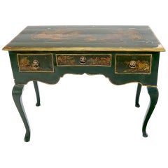 Antique 18th Century Hand Decorated Chinoiserie Desk