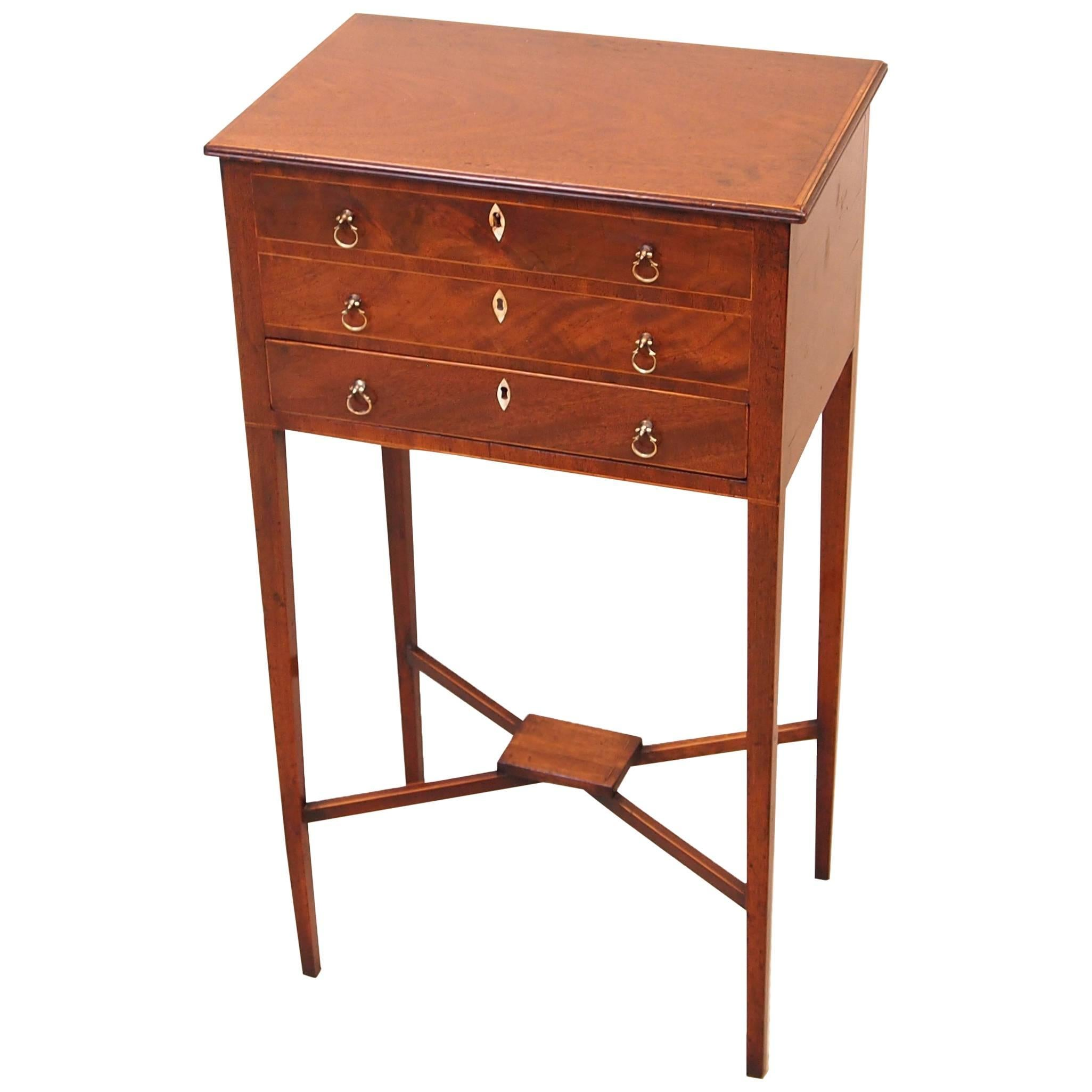 Antique 18th Century Mahogany Work Table