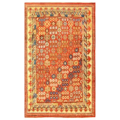 Antique 18th Century Pomegranate Design Khotan Rug. Size: 5 ft 6 in x 8 ft 9 in