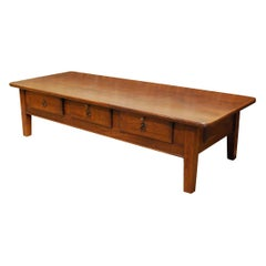 Antique 18th-Century Rustic Spanish Warm Brown Chestnut Coffee Table