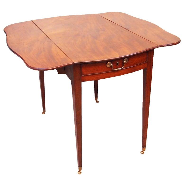 Antique 18th Century Serpentine Pembroke Table