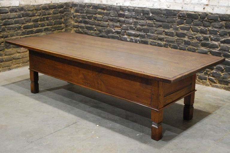 Antique 18th Century Spanish Coffee Table in Solid Chestnut Wood 4