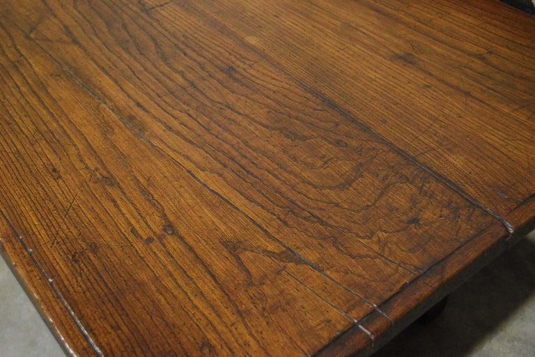 Antique 18th Century Spanish Coffee Table in Solid Chestnut Wood 1