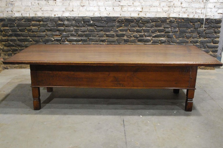 Antique 18th Century Spanish Coffee Table in Solid Chestnut Wood 3