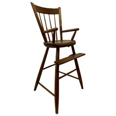 Antique 18th to 19th Century American Child's High Chair
