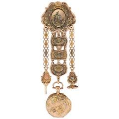 Antique Swiss 18-Karat Gold Watch & Chatelaine, Vacheron Constantin, circa 1780