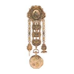 Antique Swiss 18 Karat Gold Watch and Chatelaine Vacheron Constantin, circa 1780