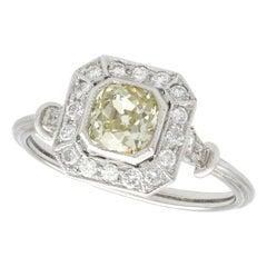 1.01 Carat Diamond and Platinum Engagement Ring