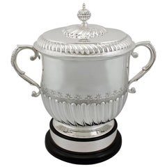 Antique 1900s Edwardian Sterling Silver Cup and Cover