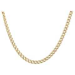Antique 1900s Gold Necklace or Watch Chain