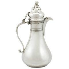 Antique 1900s Turkish Silver Coffee Jug