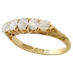 Antique 1910s 1.10 Carat Diamond Gold Cocktail Ring