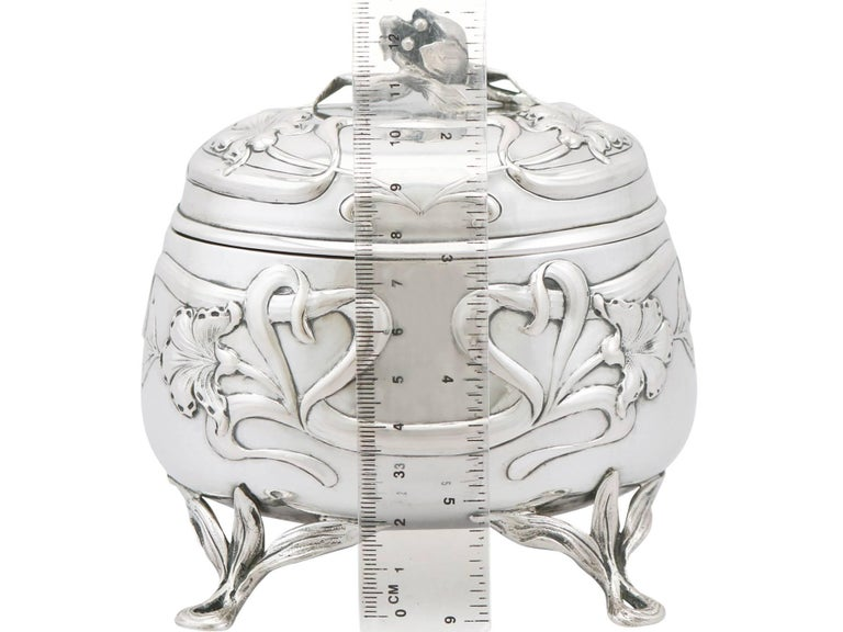Antique 1910s Austro-Hungarian Silver Tea Caddy For Sale 5