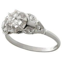 Antique 1910s Diamond and Platinum Solitaire Ring