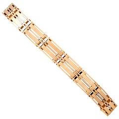 Antique 1910s Rose Gold Gate Bracelet
