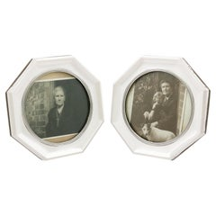Antique 1910s Sterling Silver Pair of Photograph Frames